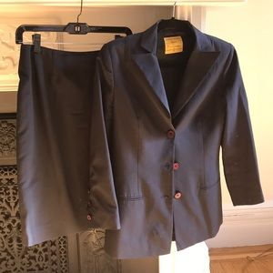 Woman's designer suit jacket and skirt
